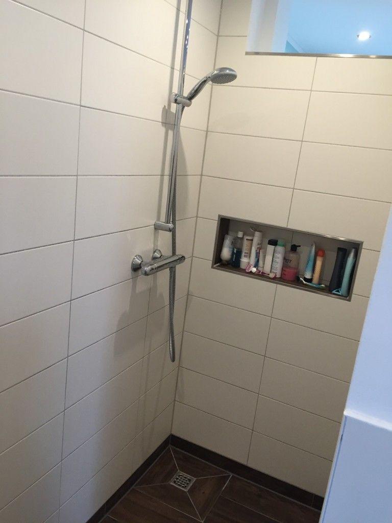 Duschablage Unser Ablagefach In Der Gemauerten Dusche Badezimmer Gemauerte Dusche Duschablage Und Duschideen