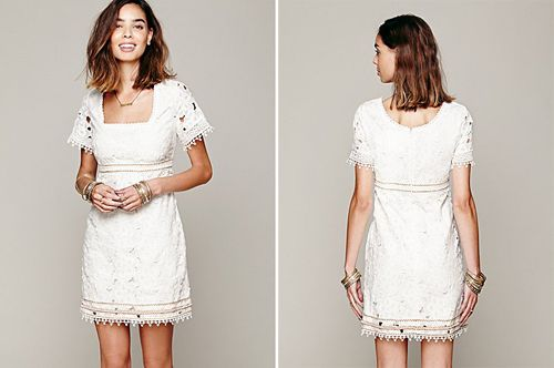 Petite robe blanche pour un mariage