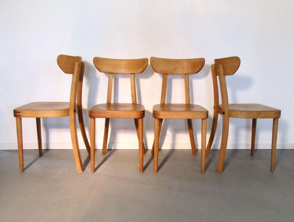 Sold Formschone Mid Century Stuhle Aus Buchenholz Retro Mobel Stuhle Vintage Mobel