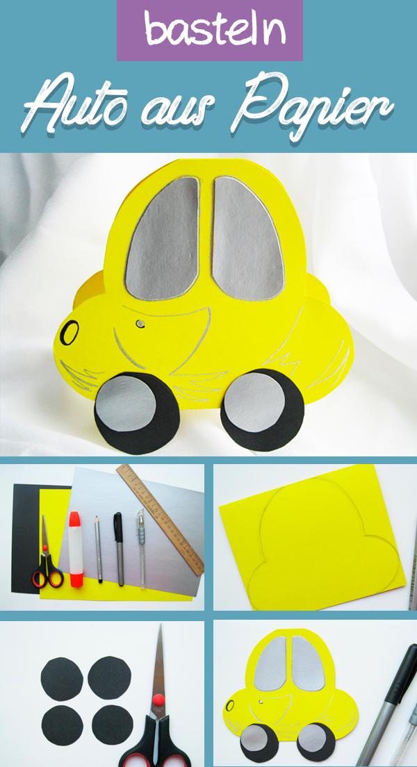 Basteln Ein Auto Aus Papier. 🚕 Einladungskarten Zum Kindergeburtstag Auto  Selber Machen 🚕 Auto Mottoparty