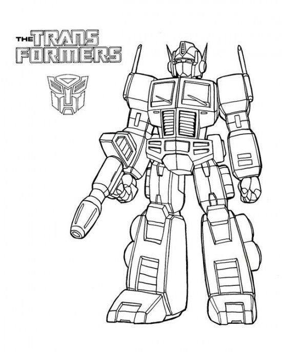 Free Transformers Coloring Pages Picture 6 550x687 Picture Kids