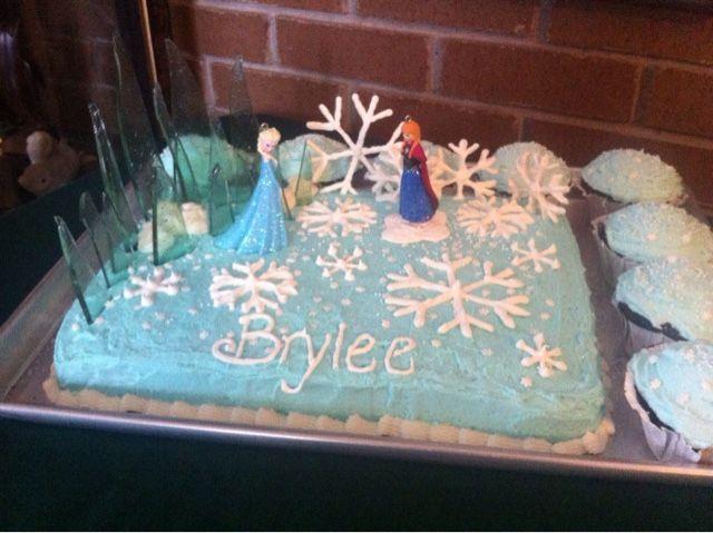 Birthday Cake Ideas Frozen ~ Frozen birthday cake homemade~the vintage goose cakes cookies