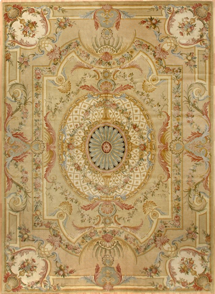 Hand Woven French Carpet Savonnerie Louis Xvi Style