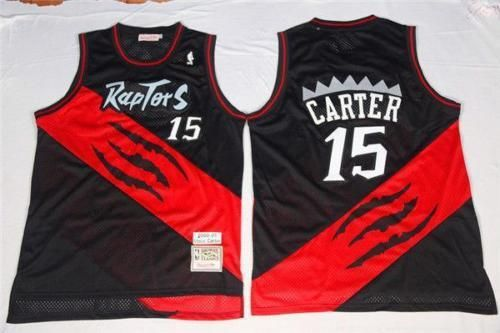 NEW Toronto Raptors  15 Vince Carter Retro Swingman Basketball Jersey Black  - Basketball-NBA 39e03763e