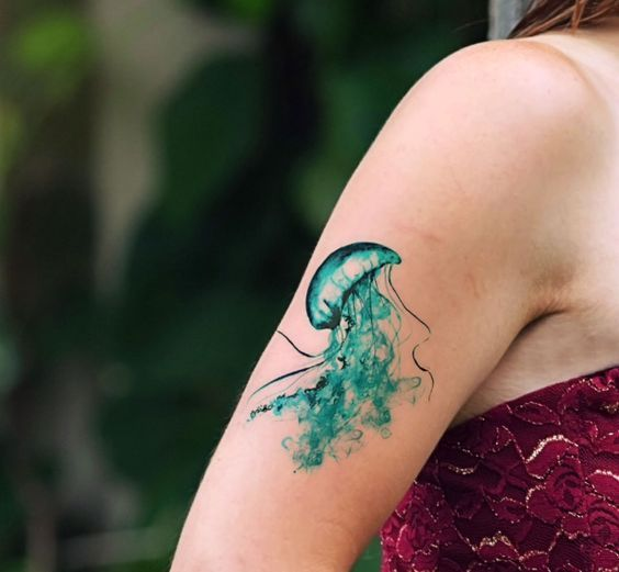 49 Jellyfish Tattoo Meanings With Mysterious Meanings Jellyfish