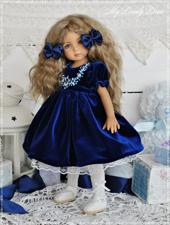 Little Darling Dianna Effner doll dress, Velvet dr