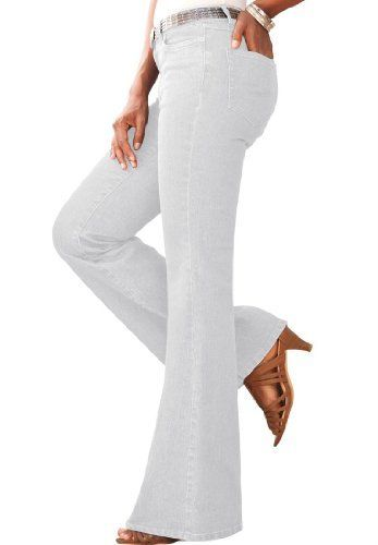 603df9efb1e Roamans Plus Size Tall Flare Jeans With Invisible Stretch Denim 24 7  Roamans.  44.99