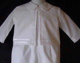 Photo of Bata de bautizo para niño / traje de bautizo Tamaño de mameluco NB 3 6 12 meses