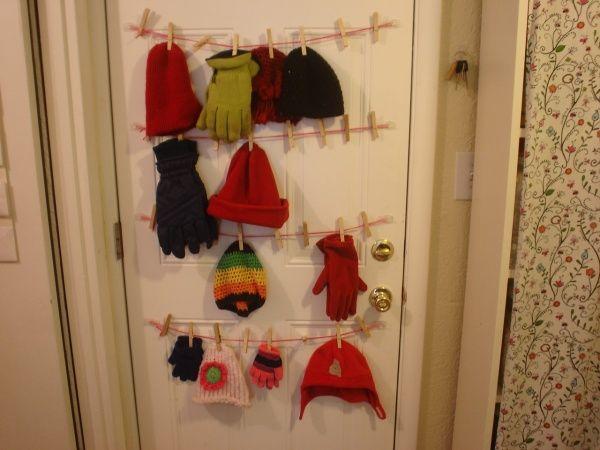 Cleaver Way To Organize Winter Mittens Hats Etc Winter Gear