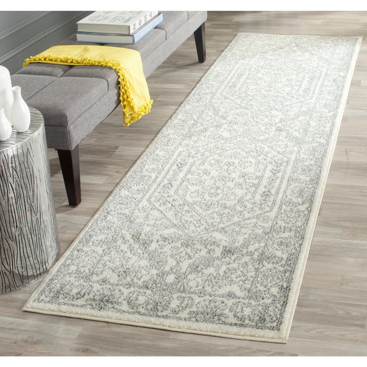Robot Check Silver Rug Rug Runner Area Rugs