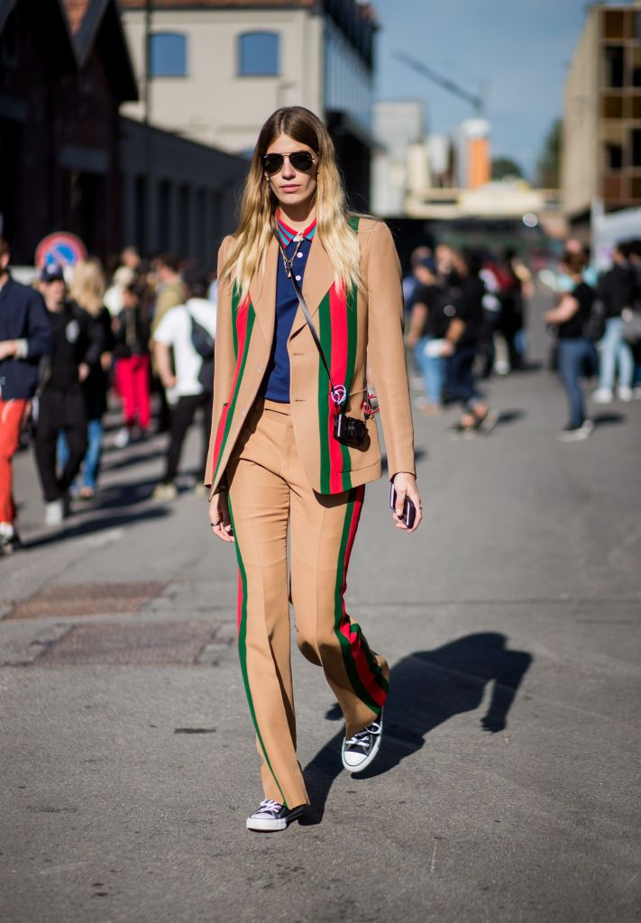 c5ef4f3db446 Browse Street Style  September 20 - Milan Fashion Week Spring Summer 2018  latest photos. View images and find out more about Street Style  September  20 ...