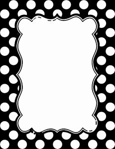 black and white polka dot border 15 colors available free rh pinterest com Free Downloadable Polka Dot Border red polka dot border clip art free