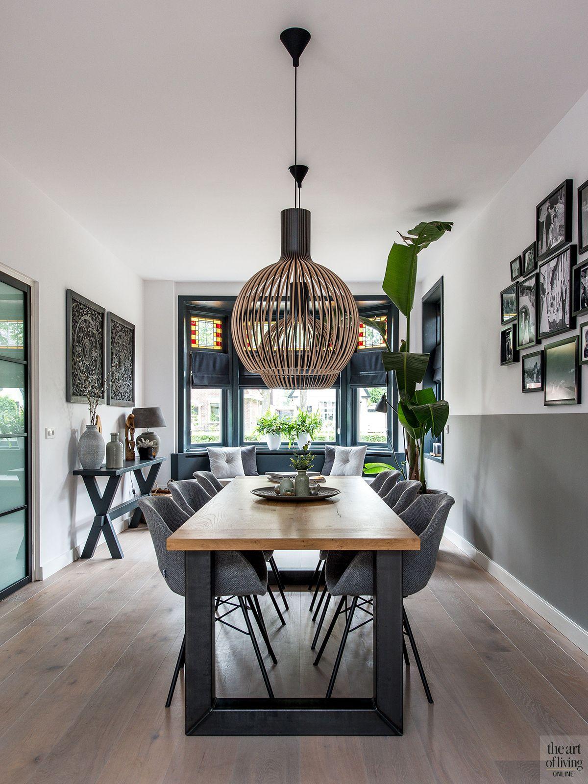 Photo of Modern interieur met erker woonkamer