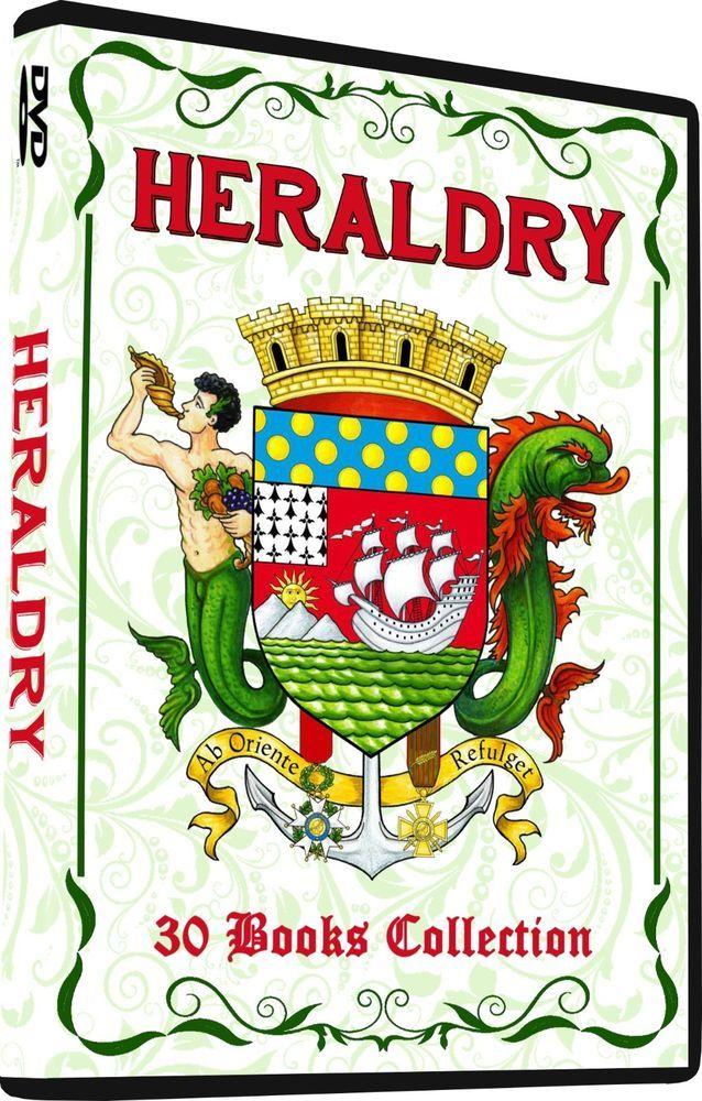 Heraldry Vintage Literature 30 Books On Dvd Armory Symbolism
