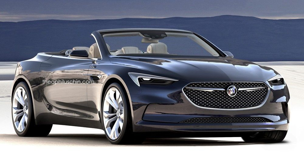 The Buick Avista Sedan Concept Is Rendered As A Convertible