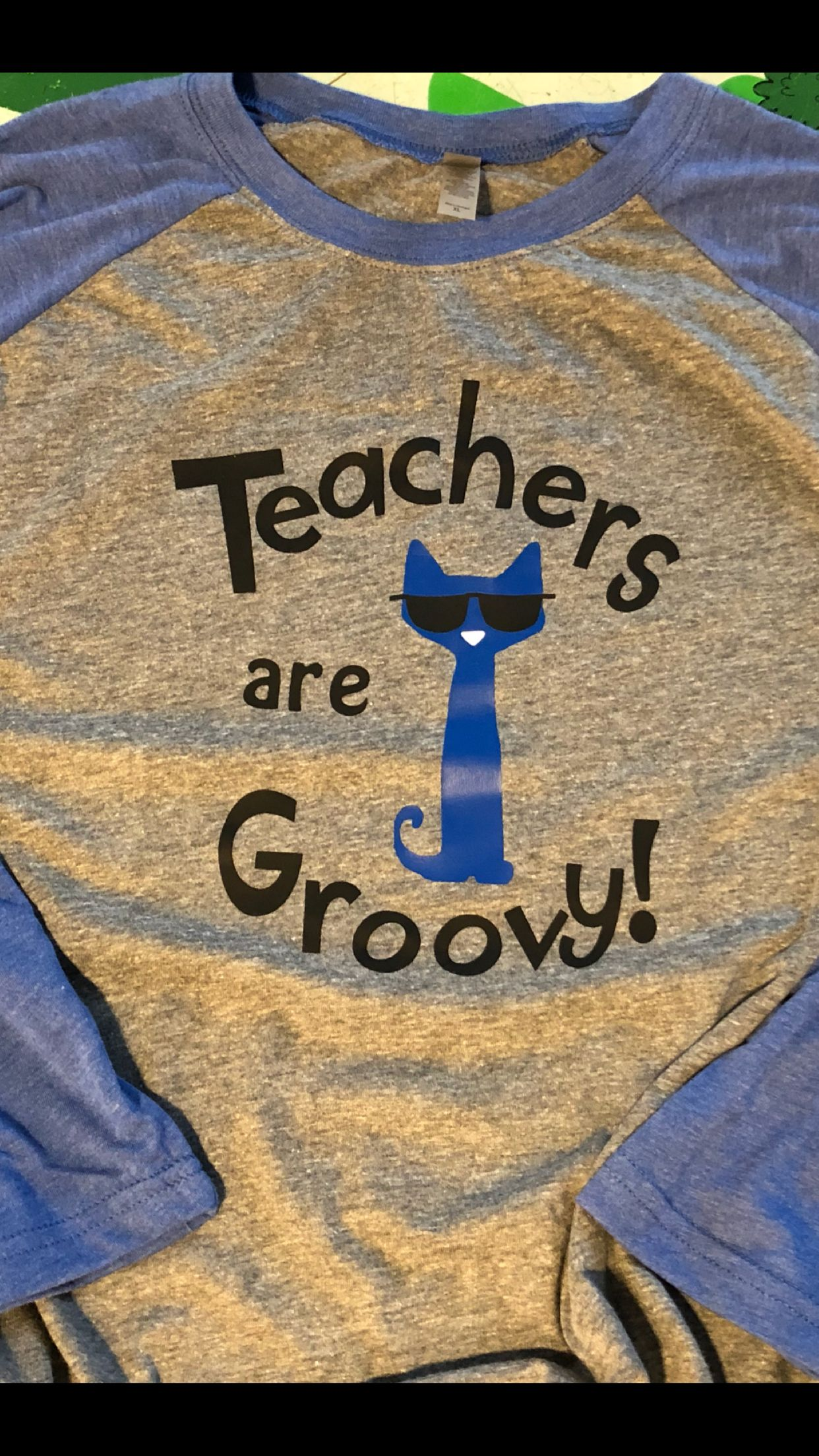 """bffe67c86e1d7 Pete the Cat, """"Teachers are Groovy"""" custom T Shirt on Etsy at ..."""