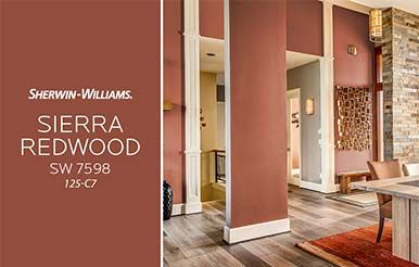 Sherwin Williams Sierra Redwood Sw 7598 Sherwin Williams Colors Orange Paint Colors Yellow Paint Colors