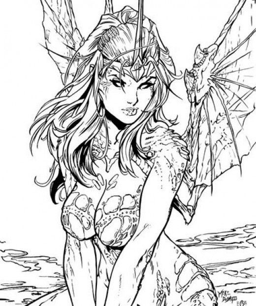 fairy coloring pages and books - Adult Fairy Coloring Pages