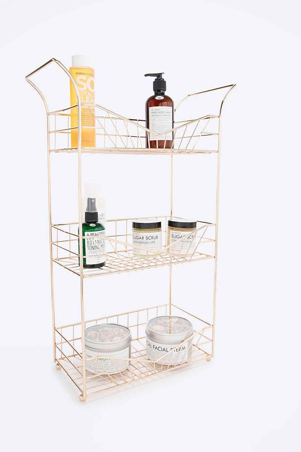 Shower Caddy in Rose Gold | Decor | Pinterest | Floor space, Shelves ...