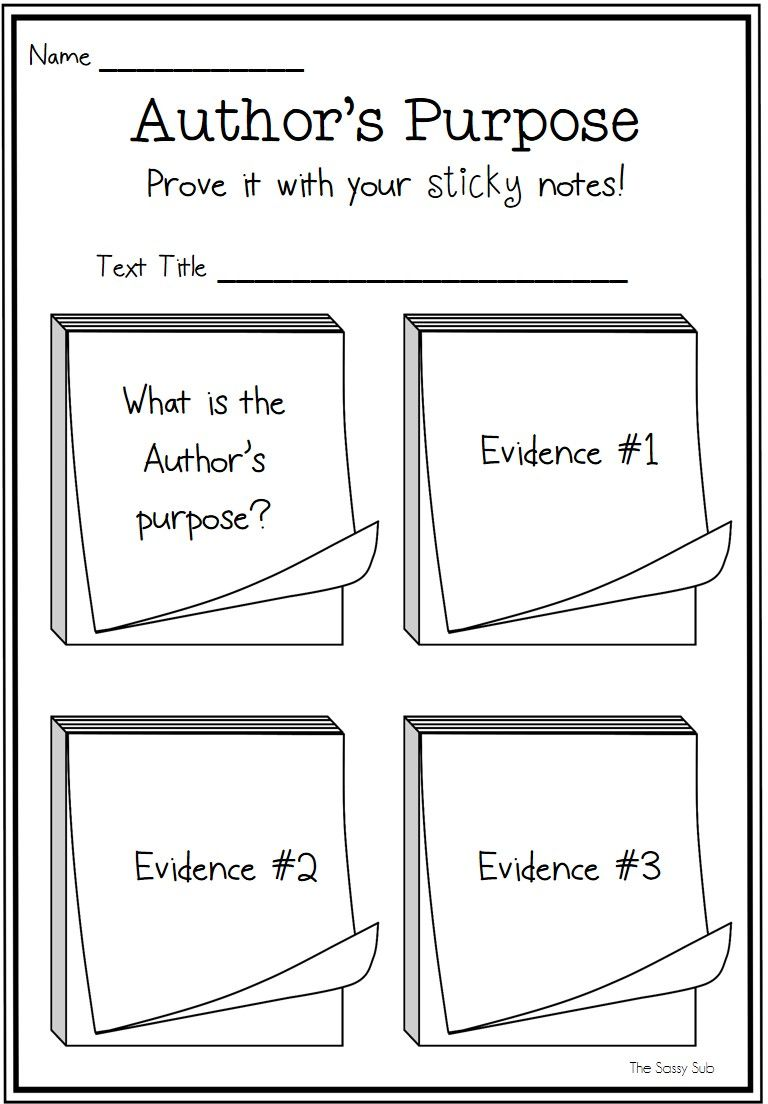 Pin By Emily Hildebrand On School Authors Purpose Graphic Organizers Elementary Reading [ 1104 x 768 Pixel ]