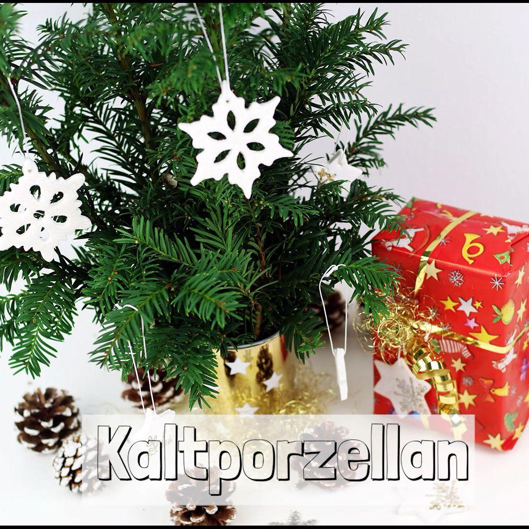 Super schöne Deko selber machen aus Kaltporzellan - Weihnachtsdeko
