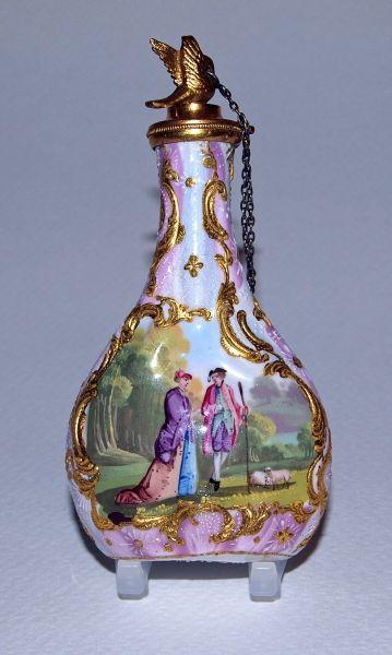 CARNIVAL Art Glass Perfume Bottle