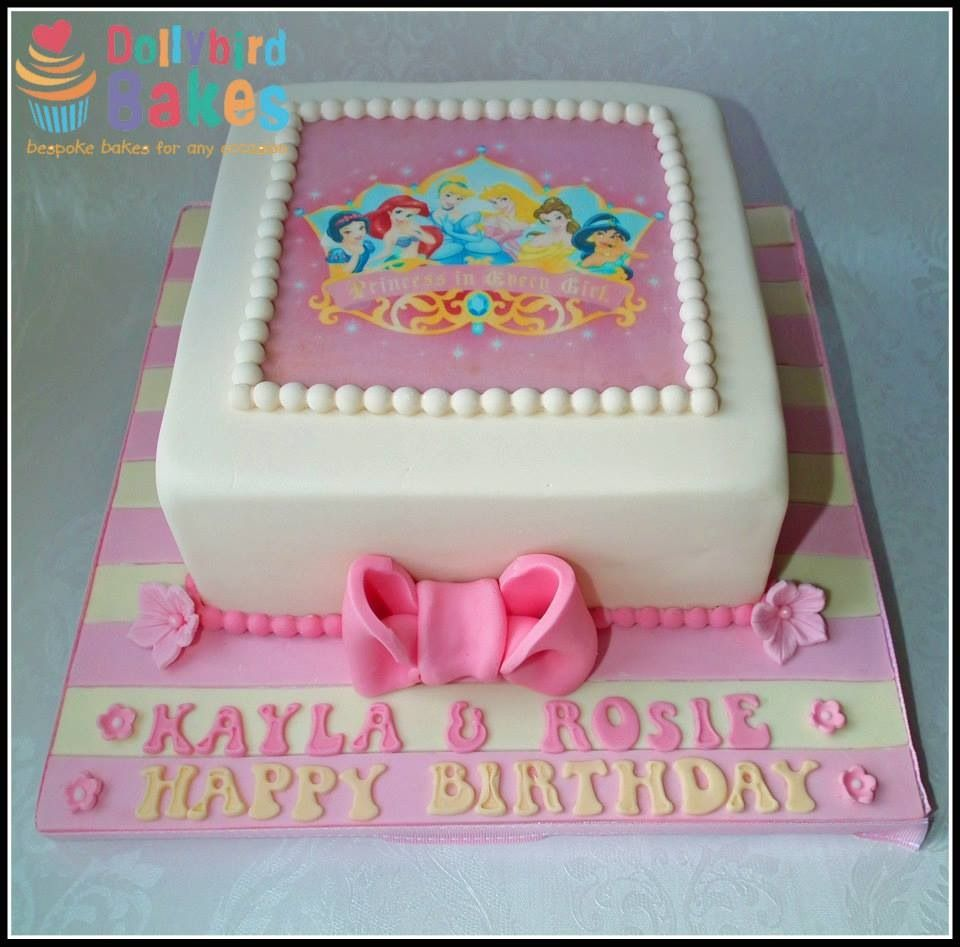 Disney princess cake with edible topper Cakes - Disney ...