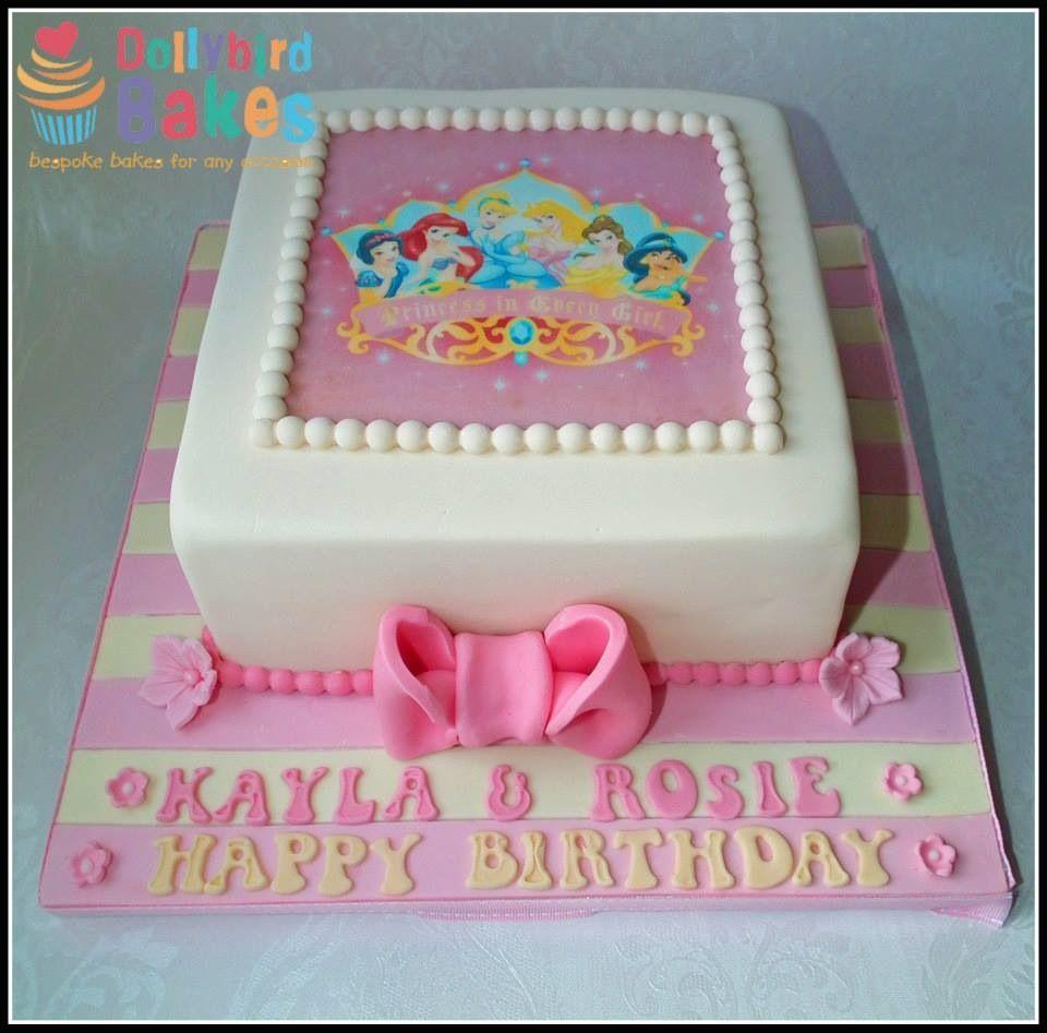 Disney princess cake with edible topper Cakes Pinterest
