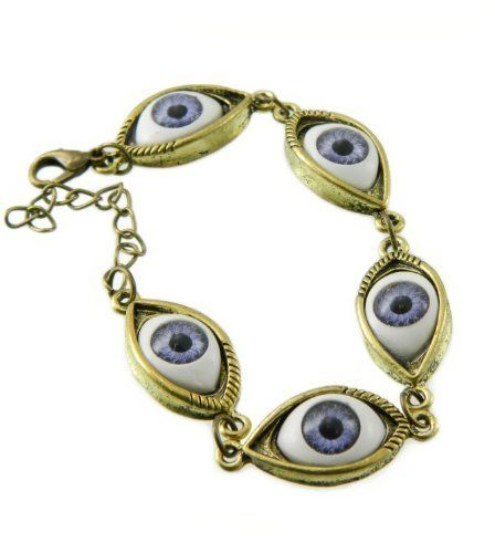 "Nazar Evil Blue Eye Lucky Charm Bracelet ""You Accessorize"" You Accessorize. $10.80. Adjustable lobster chain. Features 5 blue eyes."