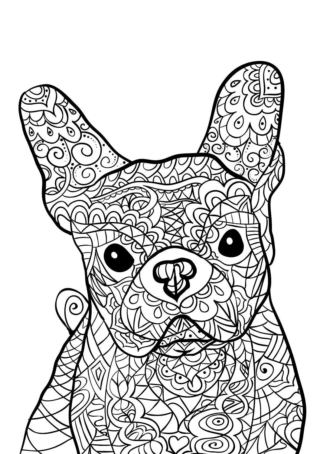calming coloring pages for adults printable | Colour Calm 07 (Sampler) | Dog coloring page, Adult ...