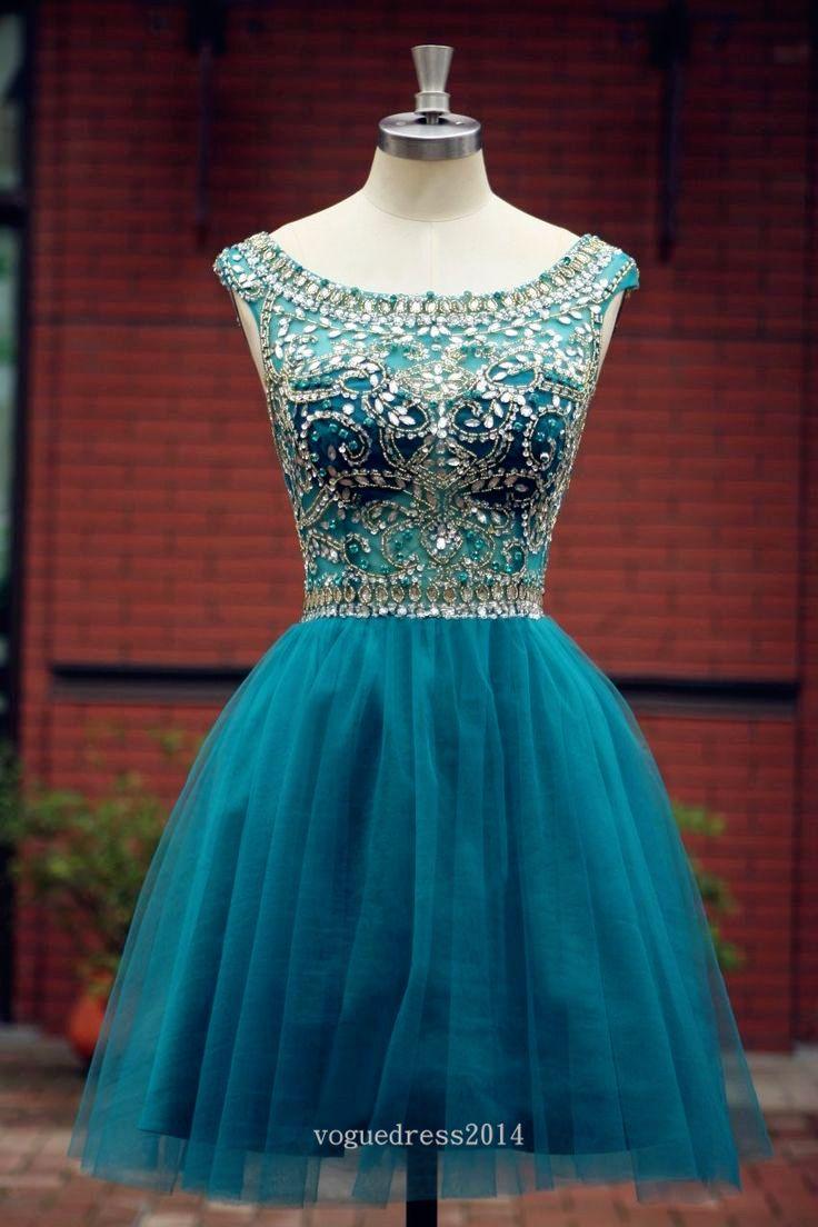 Elegant Sleeveless tulle Short Prom Dress   A bit classy   Pinterest ...