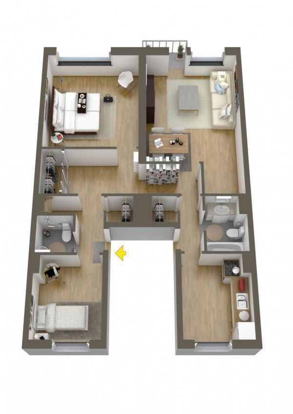 40 More 2 Bedroom Home Floor Plans Bedrooms, House and Apartments