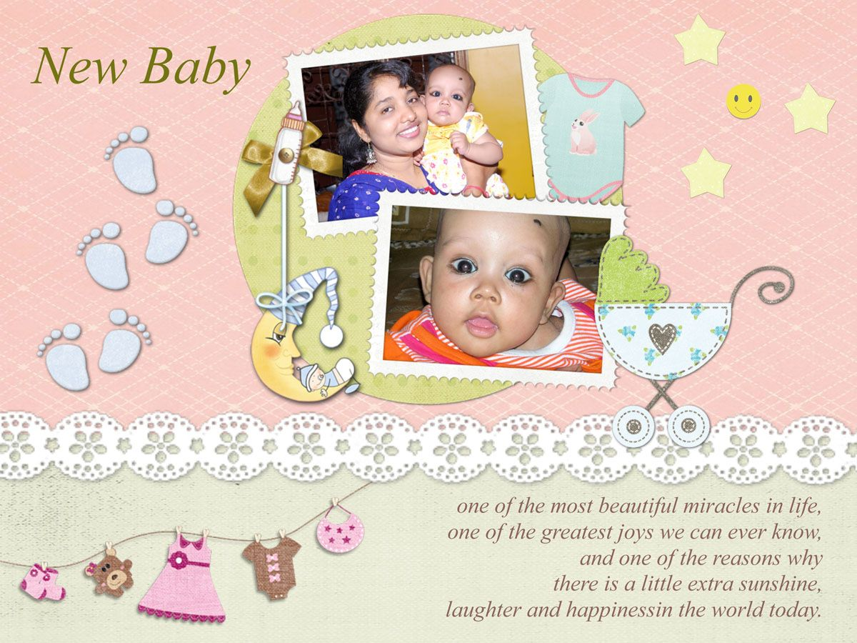 Download Free Baby Greeting Card Template 1001 In Coreldraw And Ms