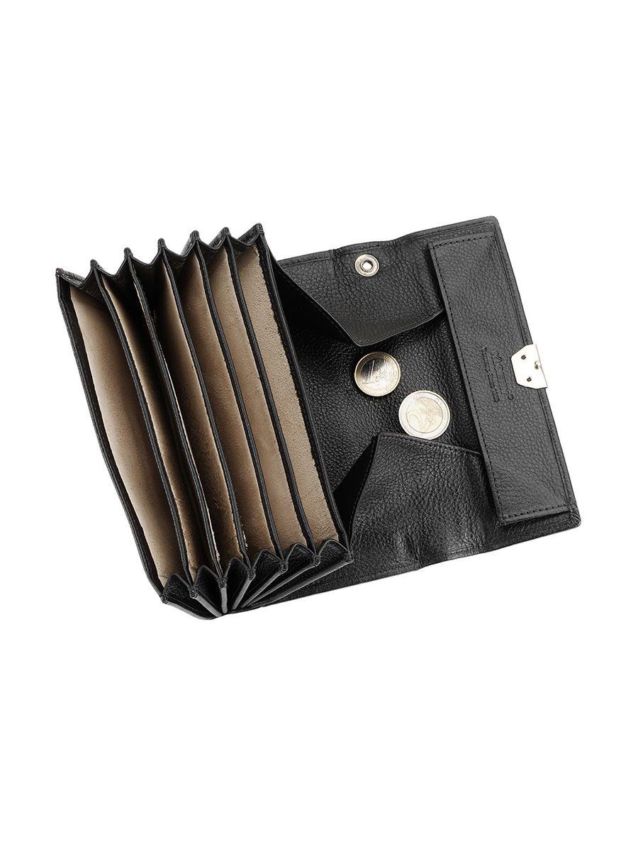 Zeige Details für Ticino Kellnerbörse: 4 Schein-, 1 RV-,1 Hartgeld-fach Maß: 17x10,5 cm Farbe: Schwarz