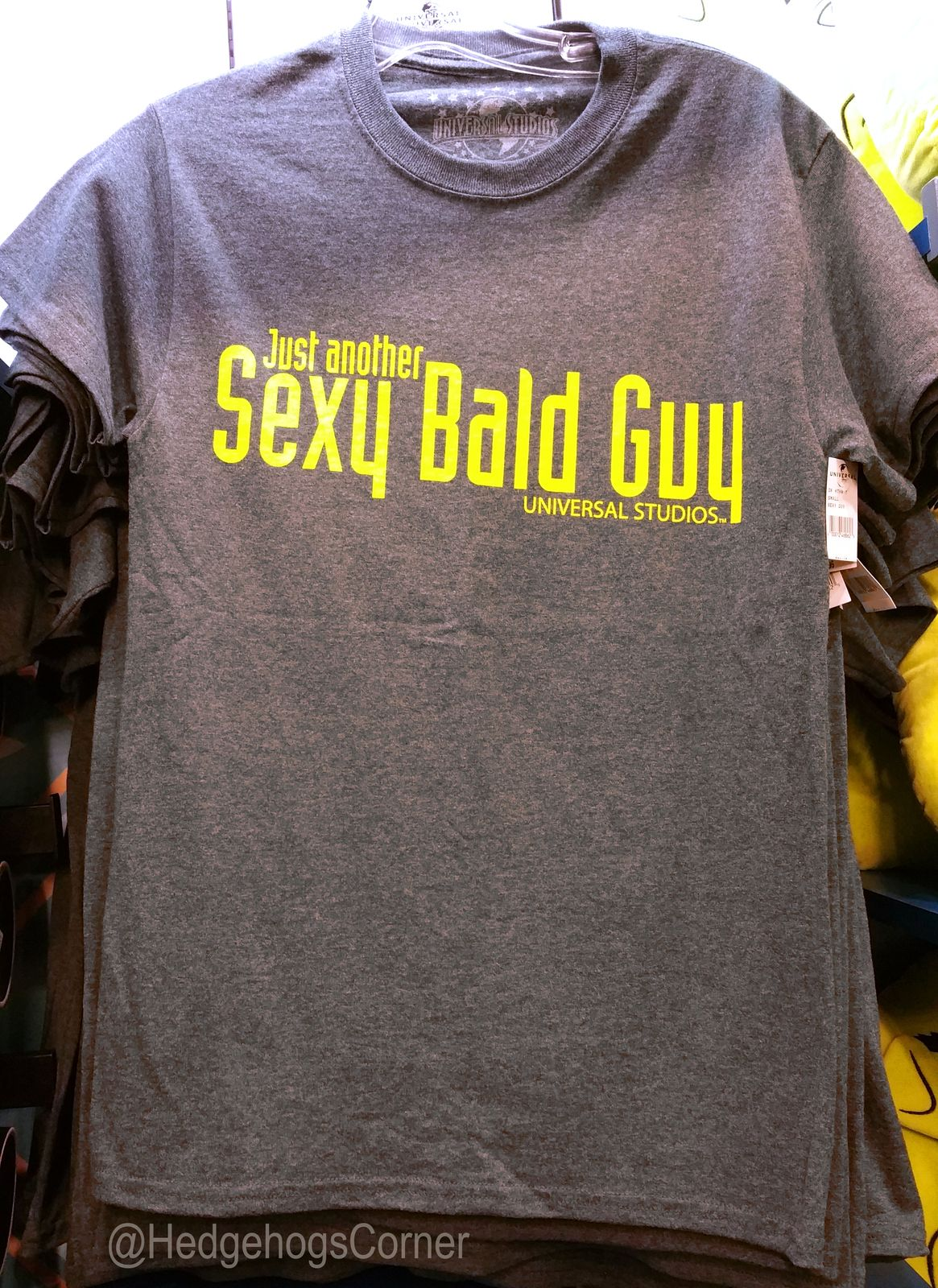 0f4b5144a lol, cool gift for your BALD guy! Universal Studios Dreamworks Shrek 4D  Just Another Sexy Bald Guy Shirt Gray