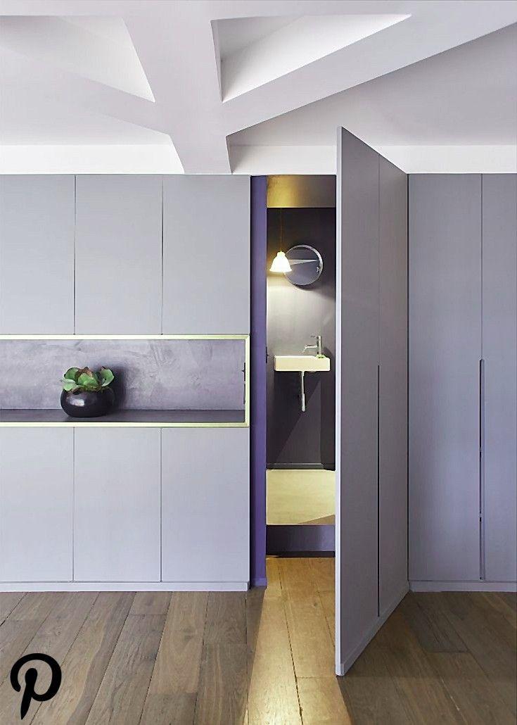 Salle de bain cachée dans un meuble  Appartement Parisien de 193 m2  GCG Architectes  Intérieurs Salle de bain cachée dans un meuble  Appartement Par...