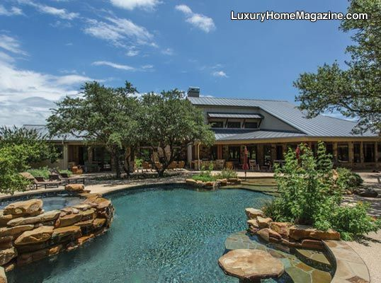 Expansive backyard with impeccable design