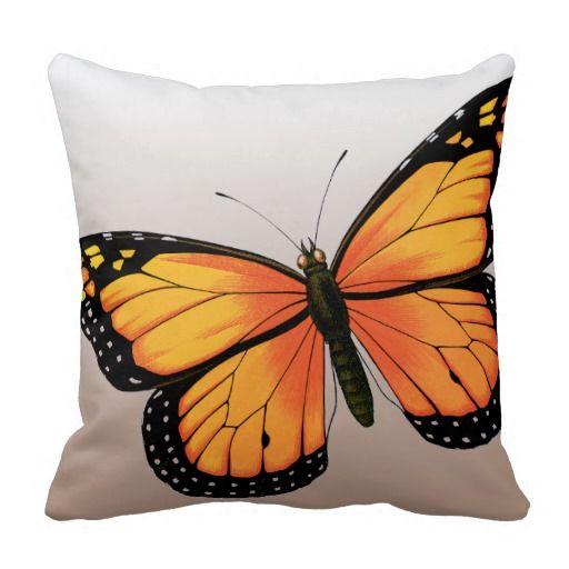 Butterfly Pillow Mandala Drawing Pillow