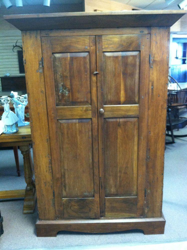 Antique Primitive Southern Corner Cabinet (Walnut & Pine ...