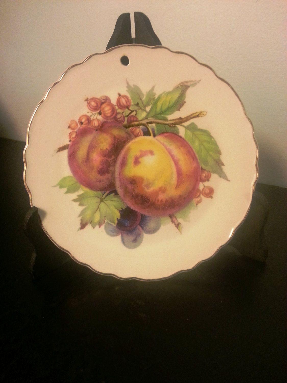 Vintage Royal Staffordshire; Fruit Ceramic Decor plate; Made in ...
