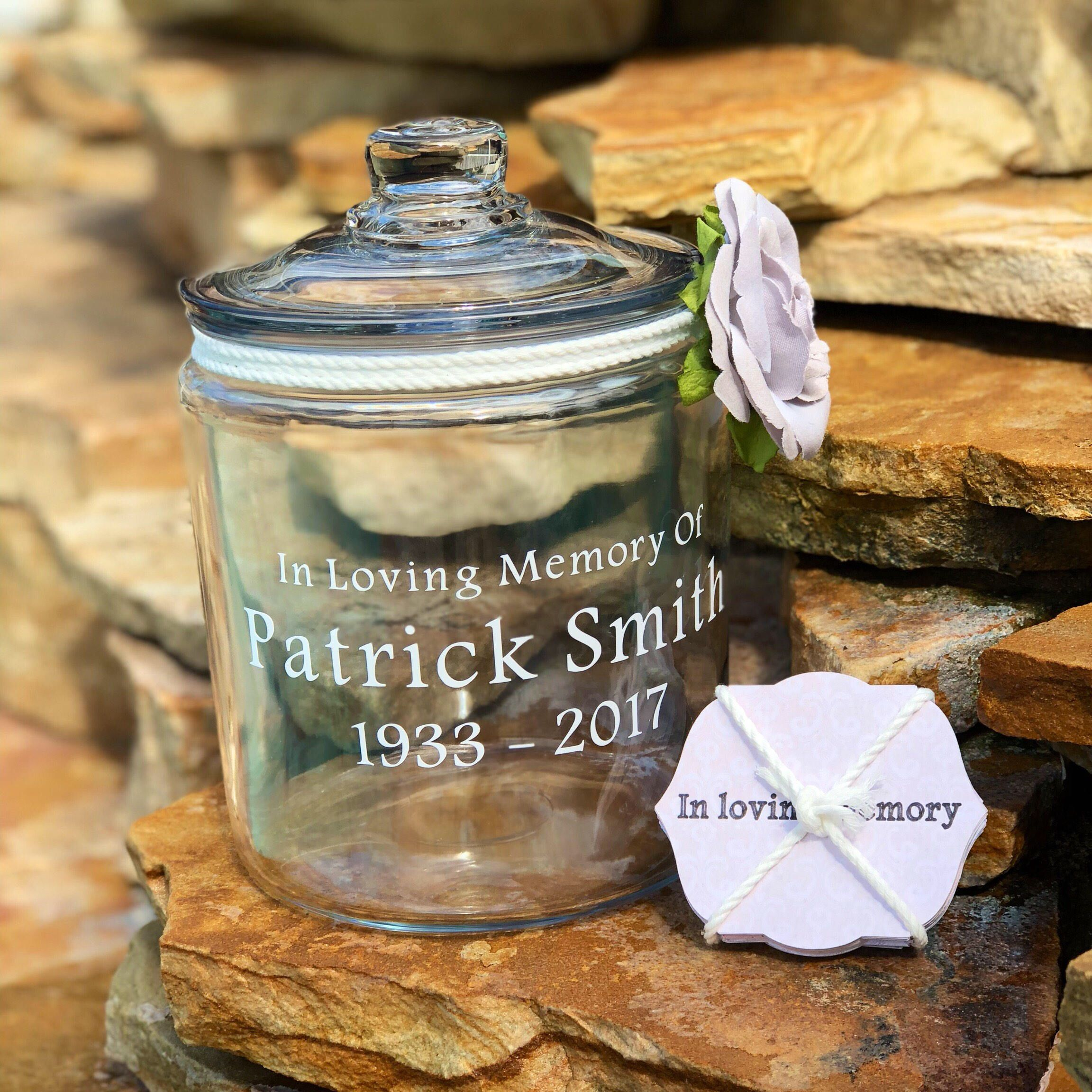 Excited To Share This Item From My Etsy Shop In Memory Of Jar Share A Memory Funeral Guest Book Remembrance Jar Funeral Guest Book Memory Jar Memory Jars