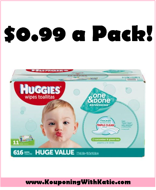 Stock Up On Huggies Wipes, Just $0.99 A Pack, At Target!!! Running low on wipes? Here's a great deal for you, going through Saturday, at Target. Combine a coupon with a gift card offer. Get bonus points (from me!) https://goo.gl/Is2WmF