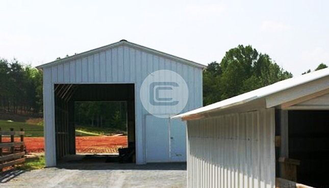 Photo of 24×41 Vertical Roof Standard Enclosed Steel Garage Structure