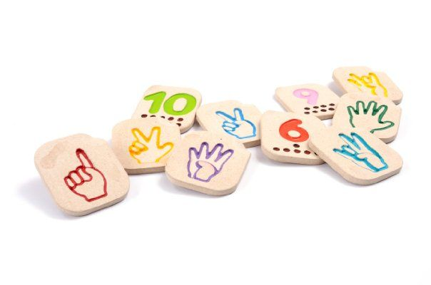 Plan Toys Hand Sign Numbers 1 - 10:Amazon:Toys  Games