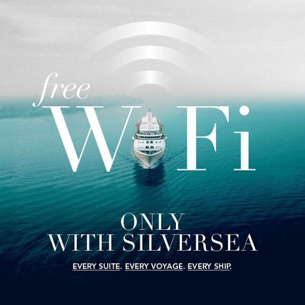 Silversea Is The First Ultraluxury Cruise Line With Yet Another - Cruise ship wifi free