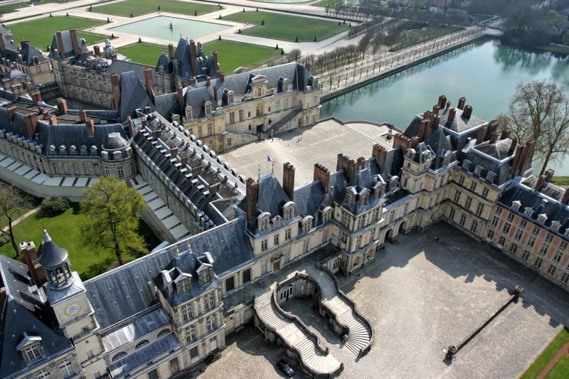 FRANCE. With over 1500 rooms at the heart of 130 acres of parkland and gardens, Palace of Fontainebleau is the only royal and imperial palace to have been continuously inhabited for seven centuries