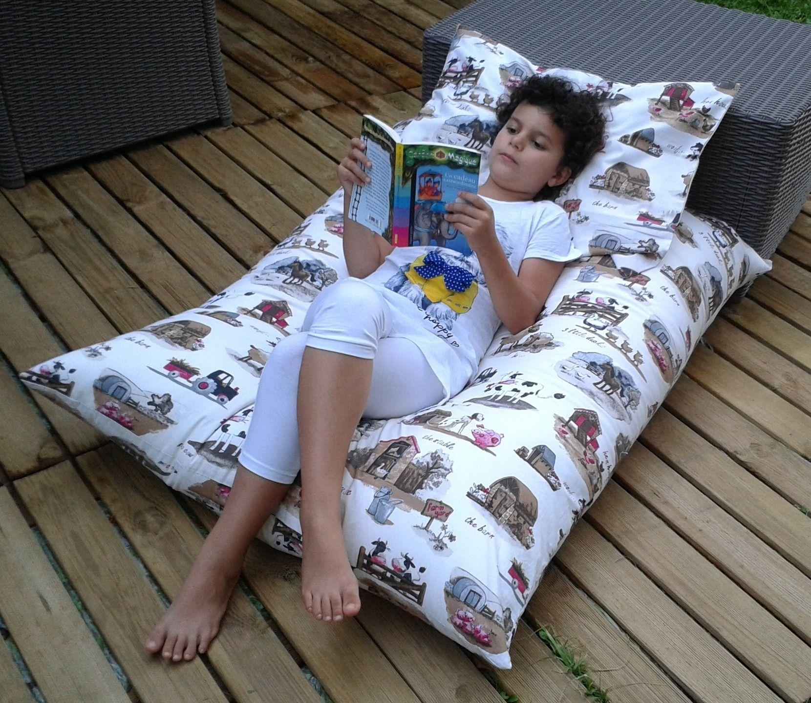grand coussin pouf de sol pour b b enfant ptibidi. Black Bedroom Furniture Sets. Home Design Ideas