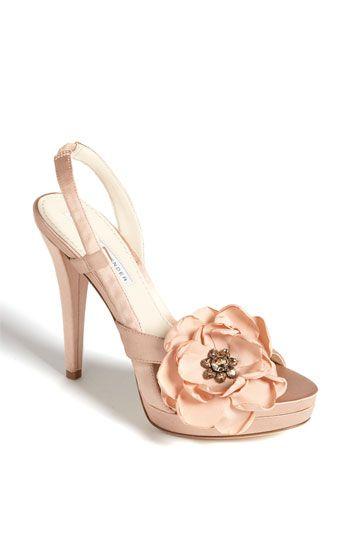 Bridal Shoes Vera Lavender Savy Sandal A Small Crystal Flower Nestles Inside The Fluttering Bloom Of Sleek Satin Perched Atop Wred