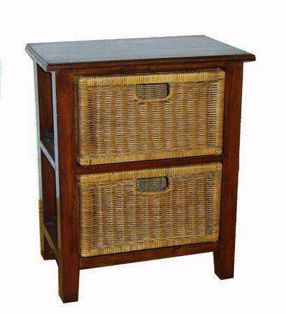 basket storage unit mahogany 2 drawer wicker basket drawers 101 pinterest products. Black Bedroom Furniture Sets. Home Design Ideas