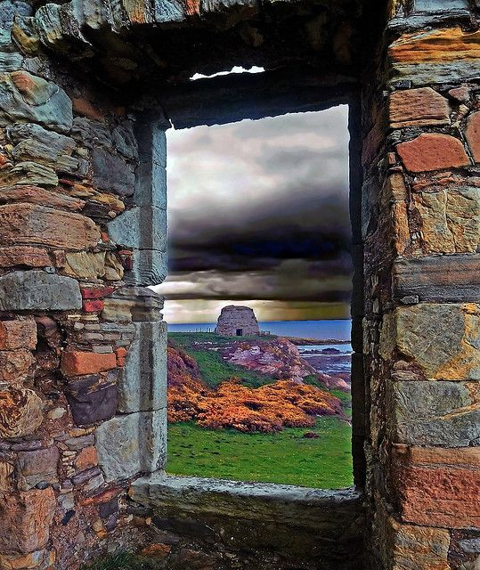 """""""ROOM WITH A VIEW,"""" by kenny barker, via Flickr. """"St. Monans, Fife, Scotland. View from monastery ruins."""" -- This is simply spectacular!!!"""